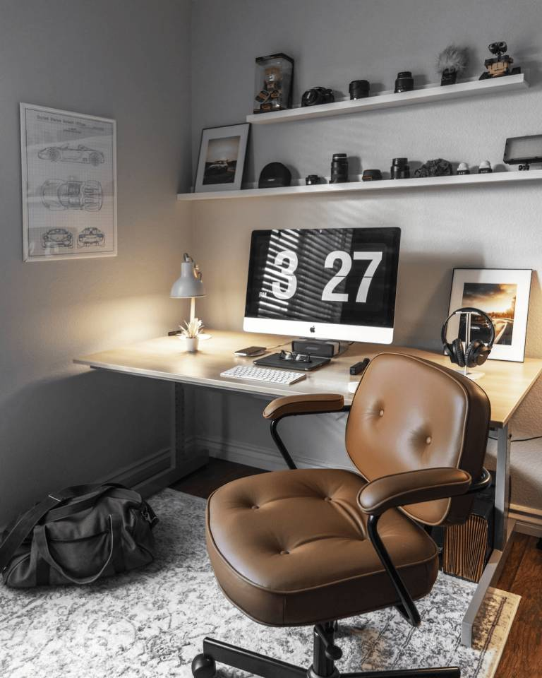 home office sleek and simple