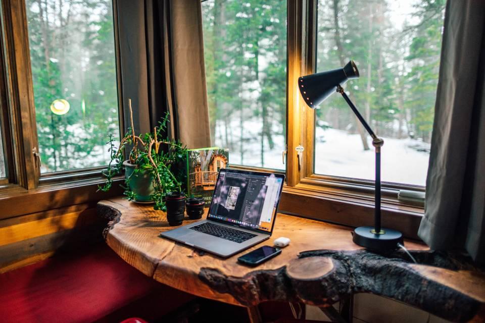 home office wood & earthy
